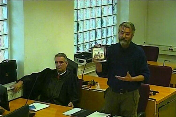 Гаврило Стевіч (праворуч) у суді