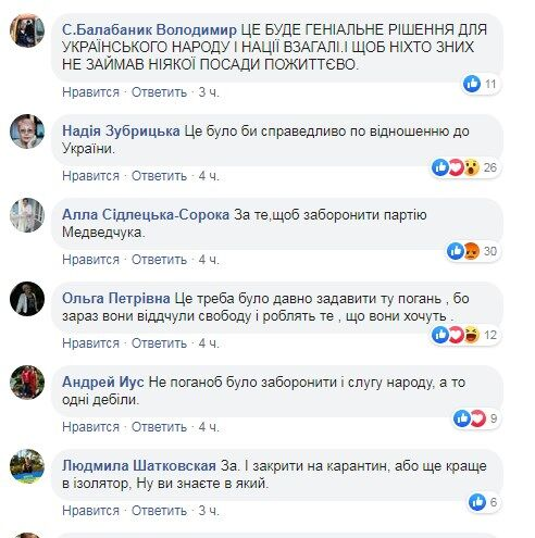 """""""Выгнать в Рашку!"""" Украинцы поддержали запрет партии Медведчука"""