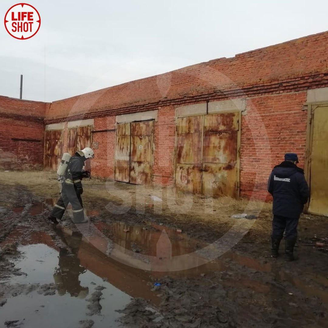 Место взрыва в воинской части в Подмосковье