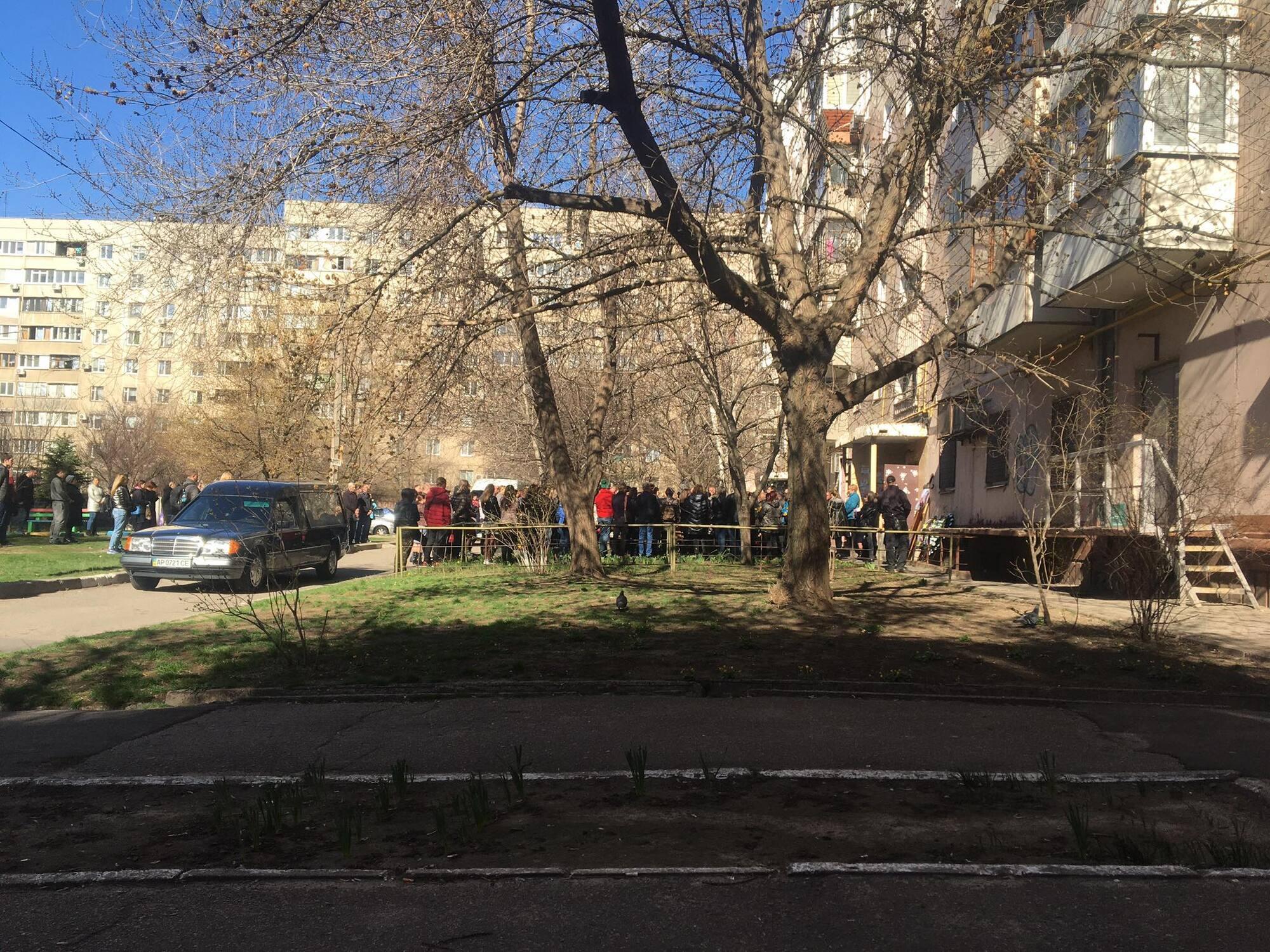 В Запорожье попрощались с Аней Ждан