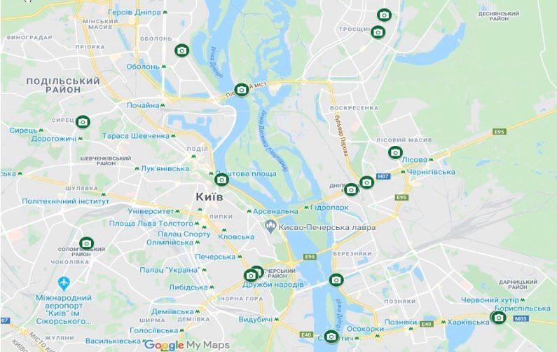 В Киеве установили камеры для борьбы с нарушителями ПДД