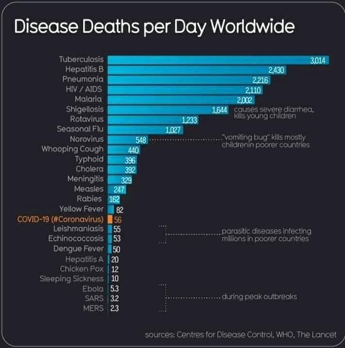 Хвороби, які вбивають тисячі людей в день: коронавірус виявився не таким і страшним
