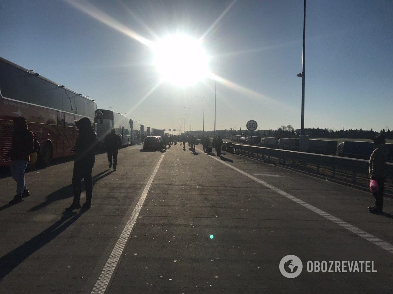 Украинцы устроили забастовку на польской границе