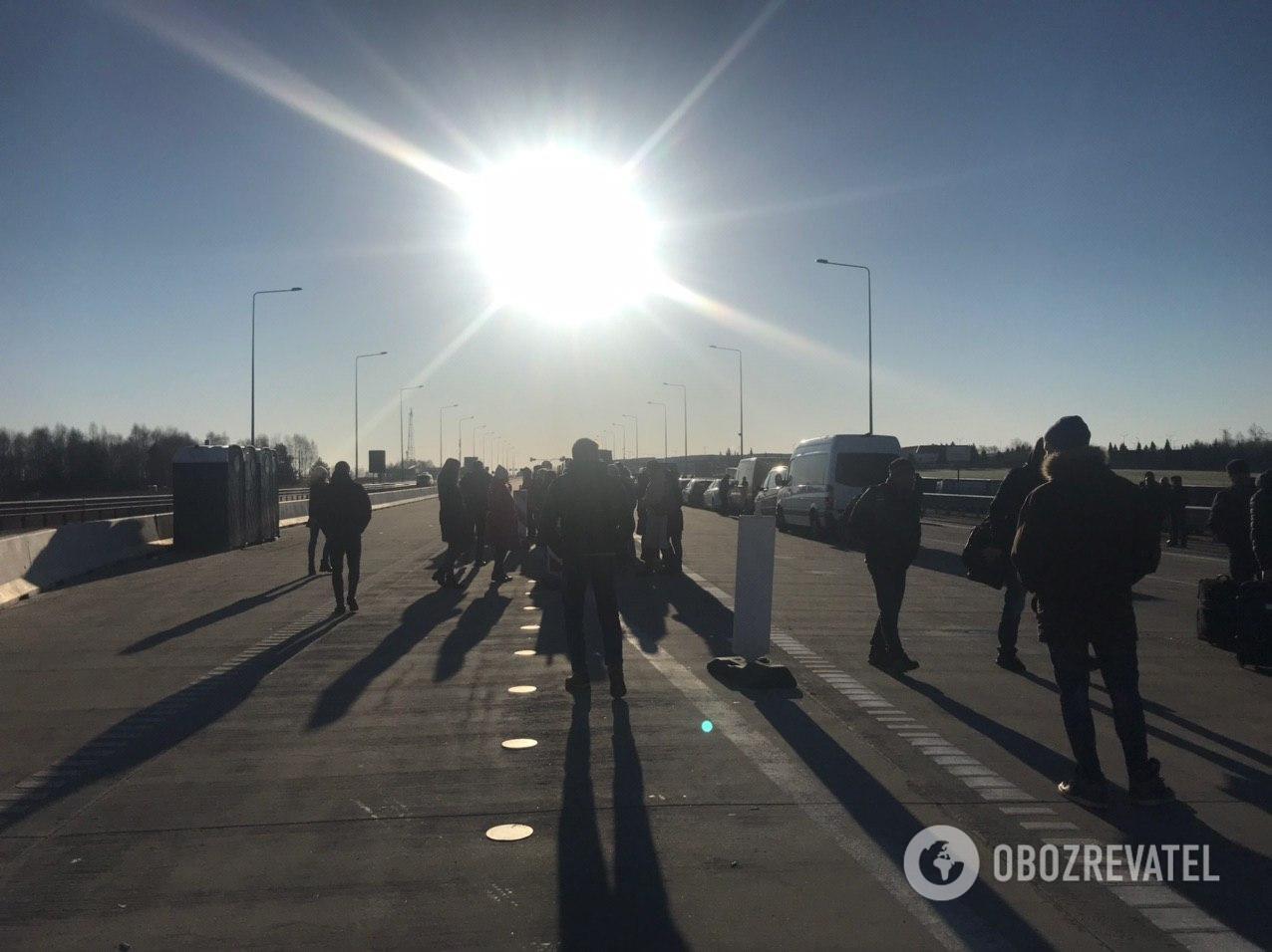 Українці влаштували страйк на польському кордоні / Фото: obozrevatel.com