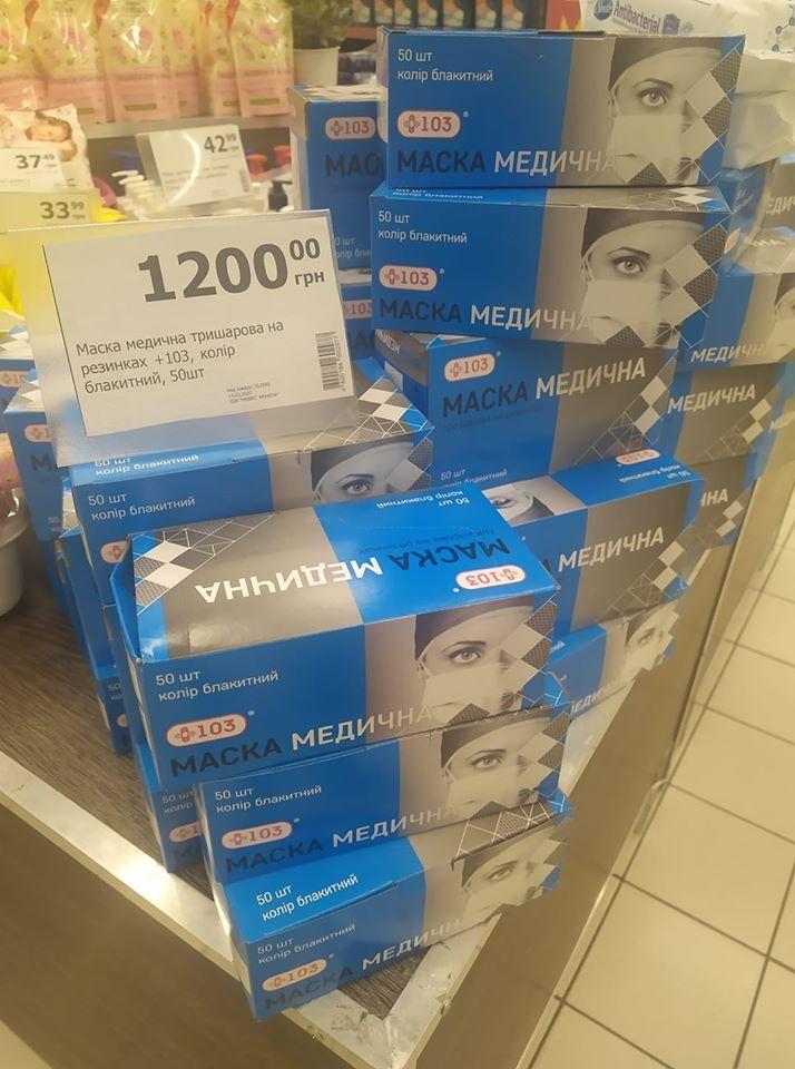 Цены на маски в Украине взвинтили