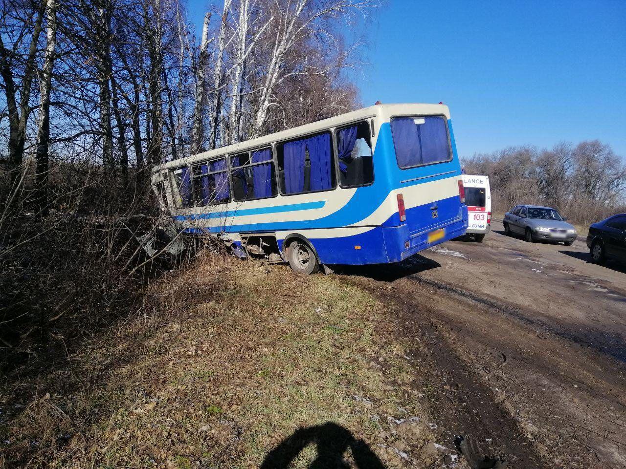 Зіткнулися бус і рейсовий автобус