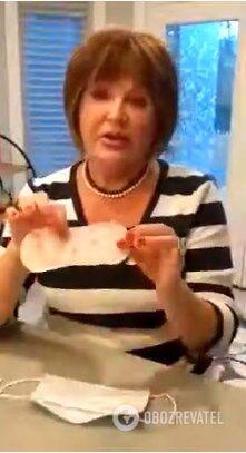 Якась Зінаїда Челінська запропонувала рятуватися від коронавірусу жіночою прокладкою з прополісом