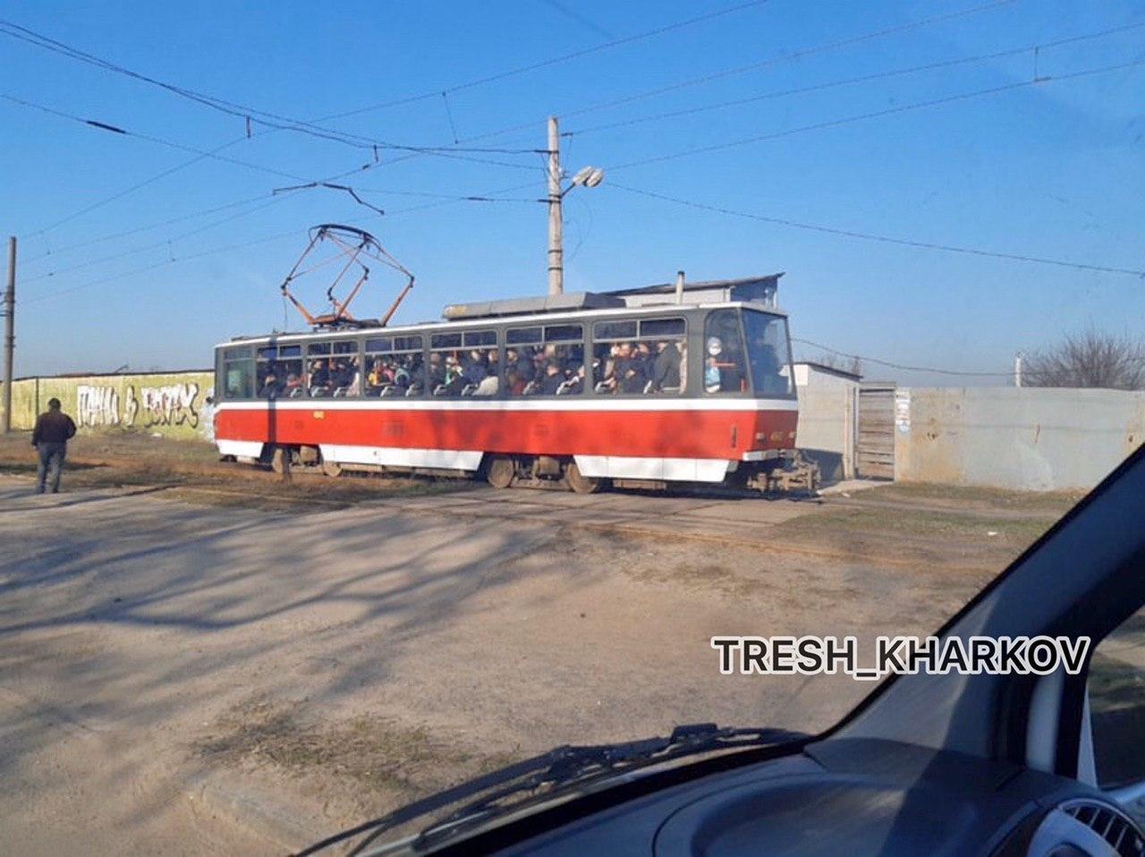 У Харкові влаштували тисняву у транспорті