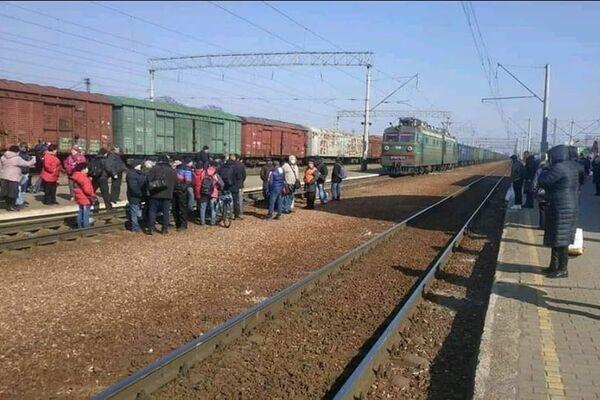 У Фастові люди перекрили залізничні колії