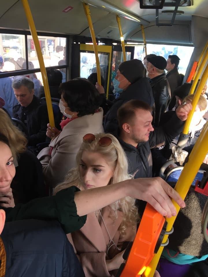 Тисняви в транспорті Києва