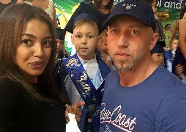 Поліна Ололо і Серьога з сином