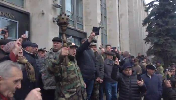 Протестующие требовали отставки правительства