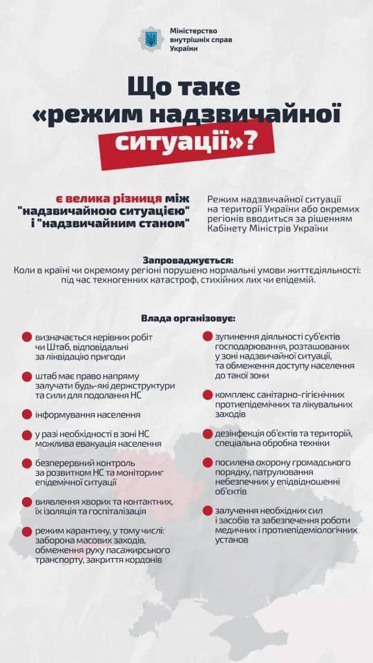 Режим ЧС введен в Киеве и шести областях Украины
