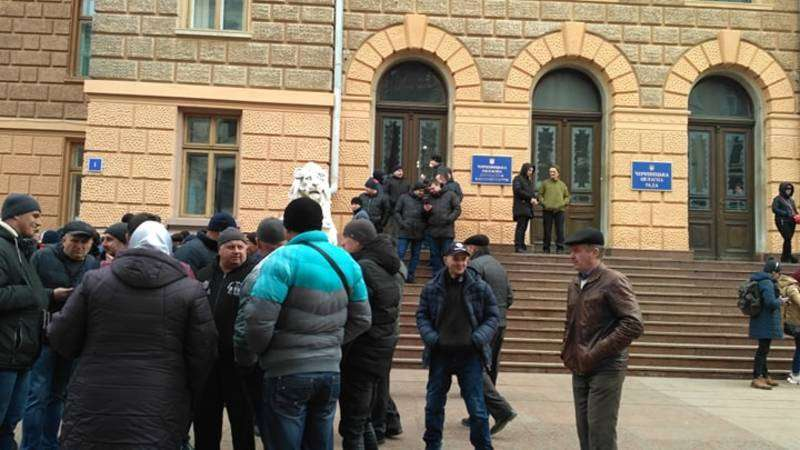 9 березня жителі Колінківців пікетували ОДА