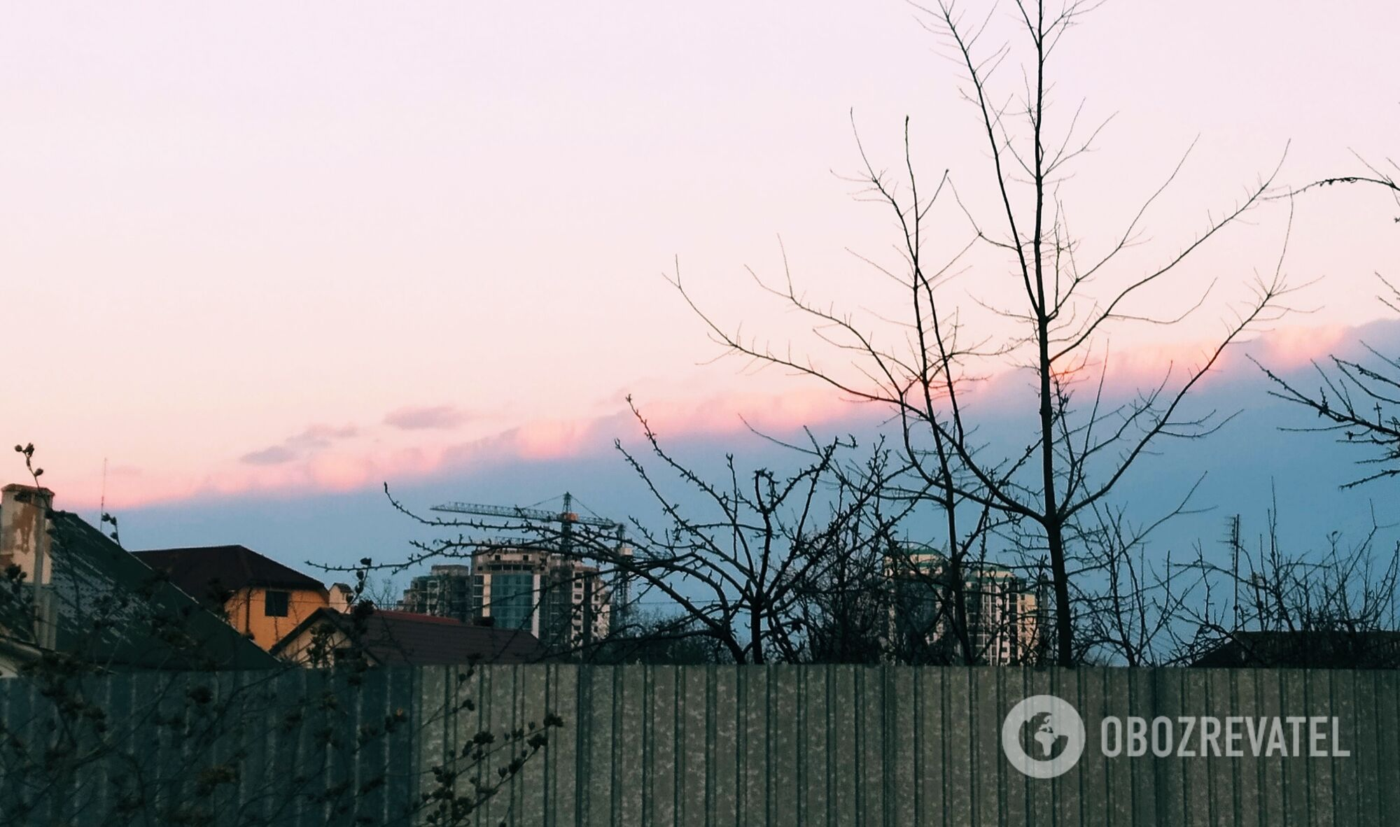В Одессе сняли удивительное явление природы