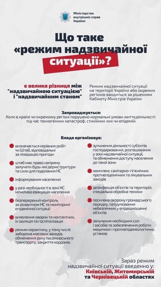 В Украине ввели чрезвычайную ситуацию еще в трех областях