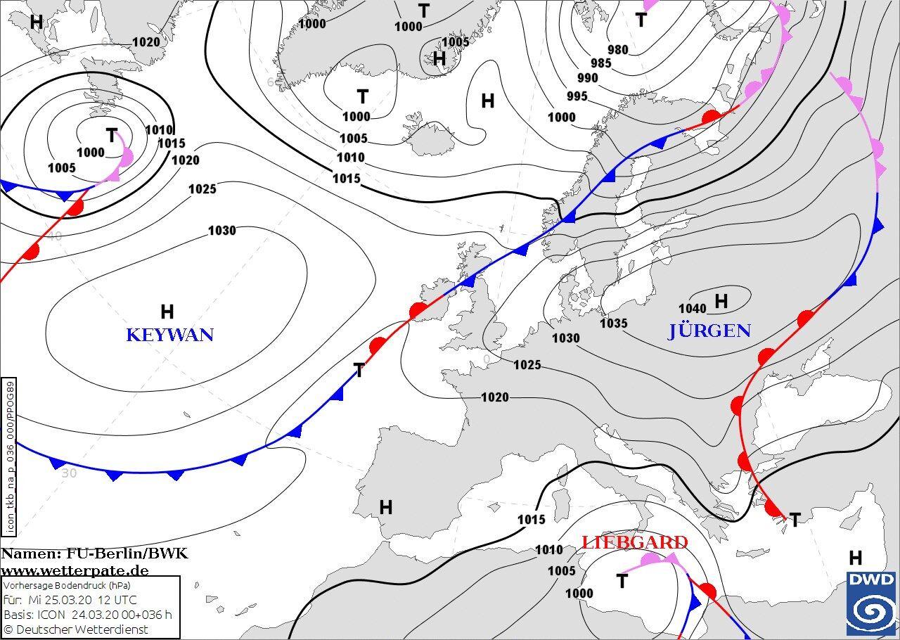 Карта погоды в Украине 25 марта