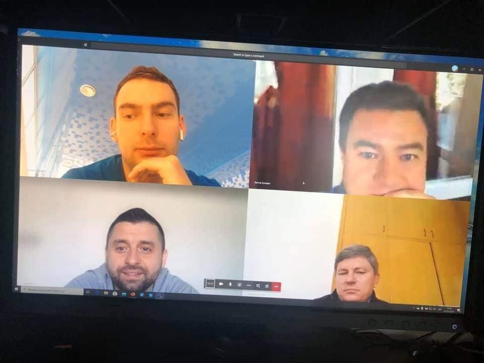 Видеоконференция глав фракций парламента