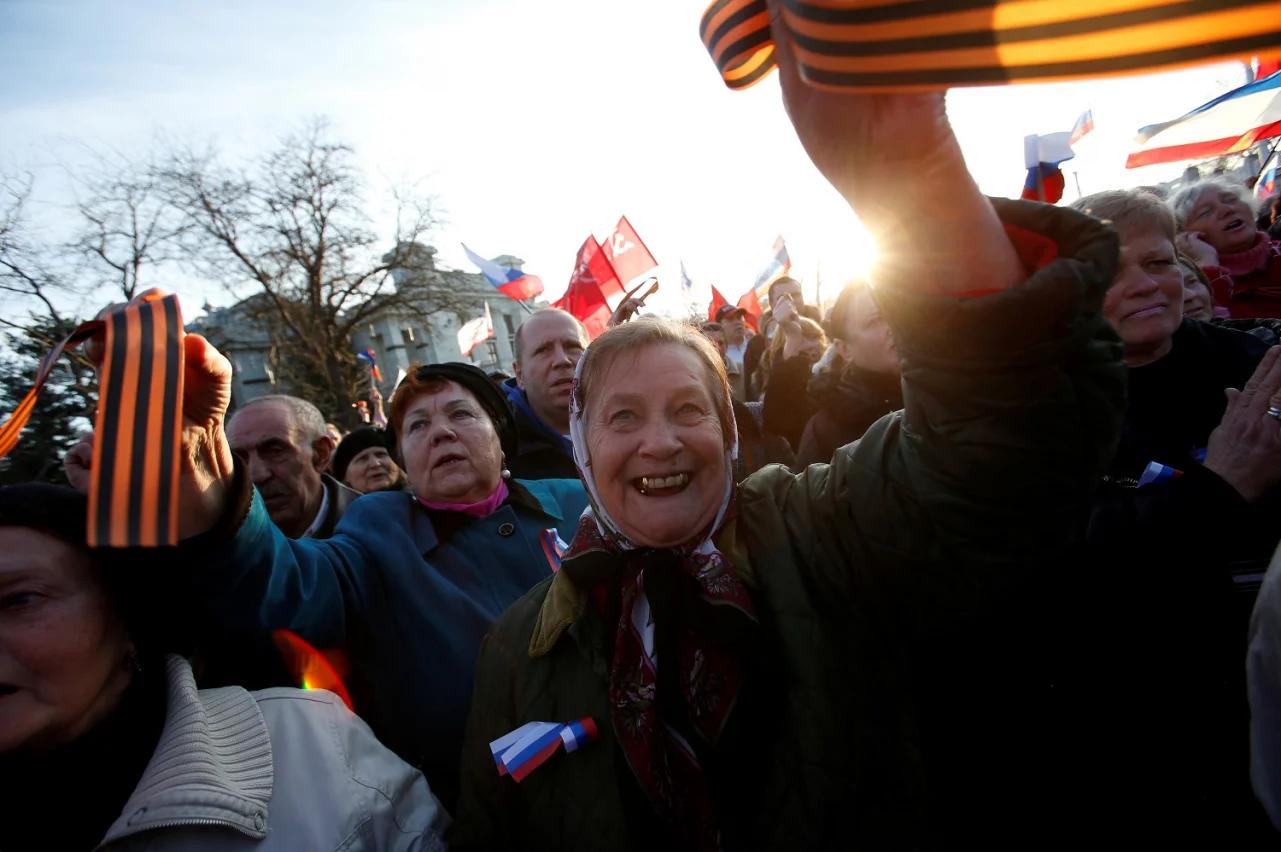 Проросійський мітинг у Євпаторії, 5 березня 2014 року