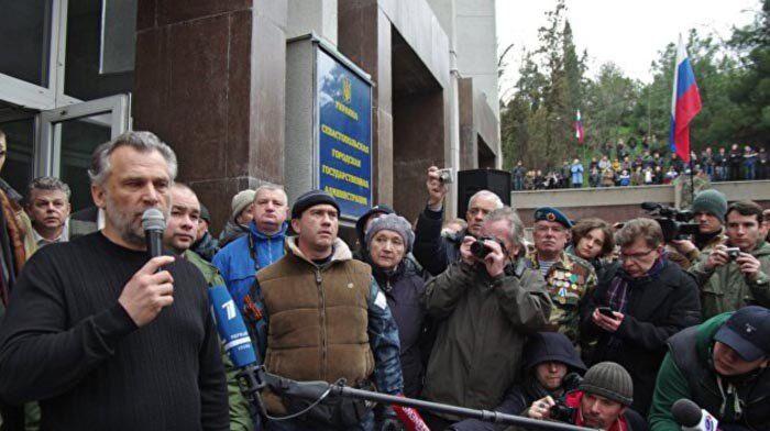 Мітинг проросійських сил у центрі Севастополя