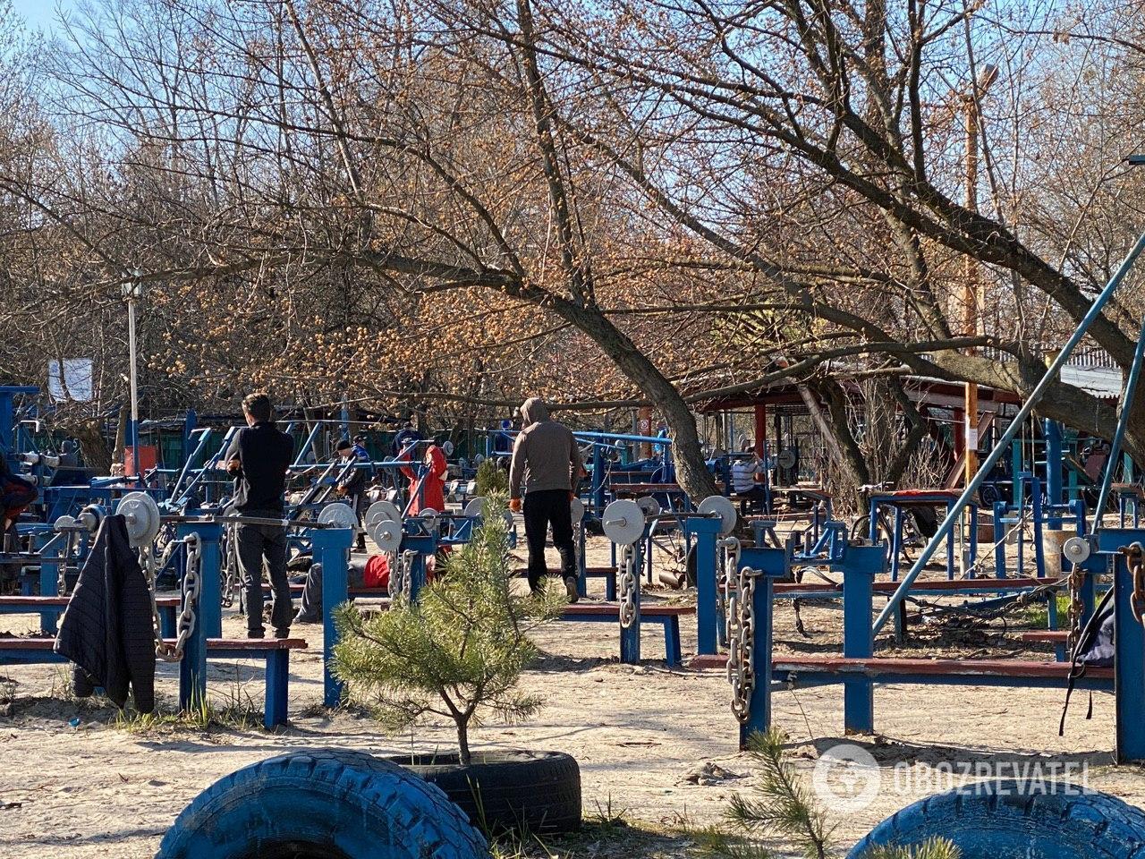 Кияни штурмують парки та спортмайданчики