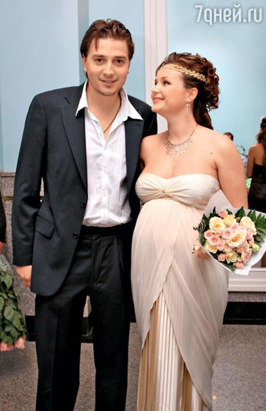 Полина Гагарина до похудения, с первым мужем