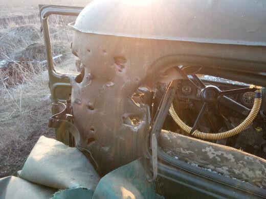 Последствия атаки террористов из ПТРК