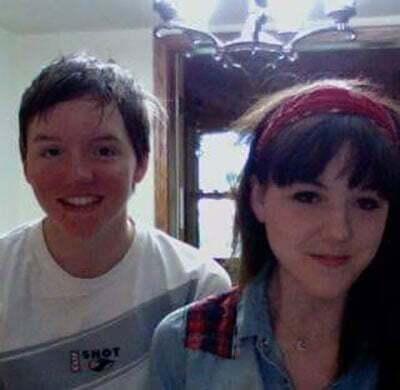 Кэтлин с сестрой Кристин