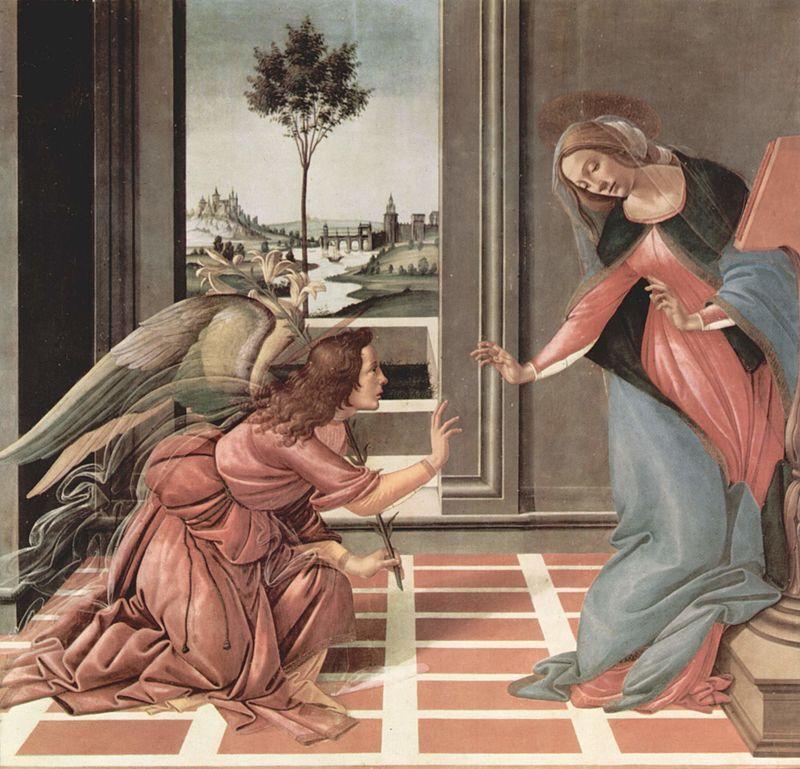 """""""Благовещение"""". Сандро Боттичелли. 1489-1490"""