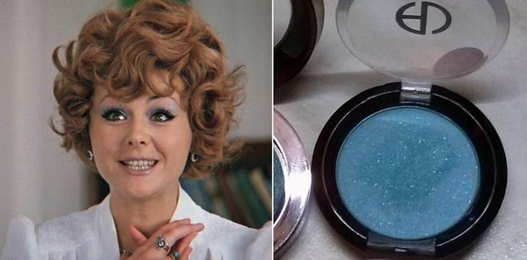 Макияж в СССР: голубые тени