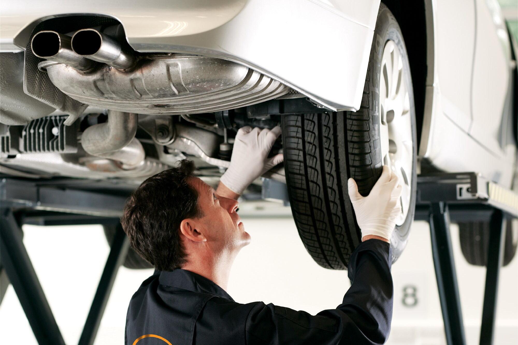 После замены шин необходимо проверить развал-схождение