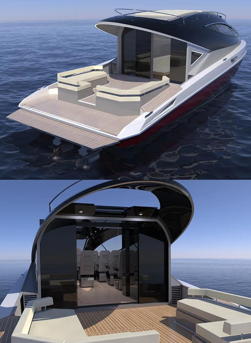 Электрическая яхта F33 Spaziale от студии Lazzarini Design Studio