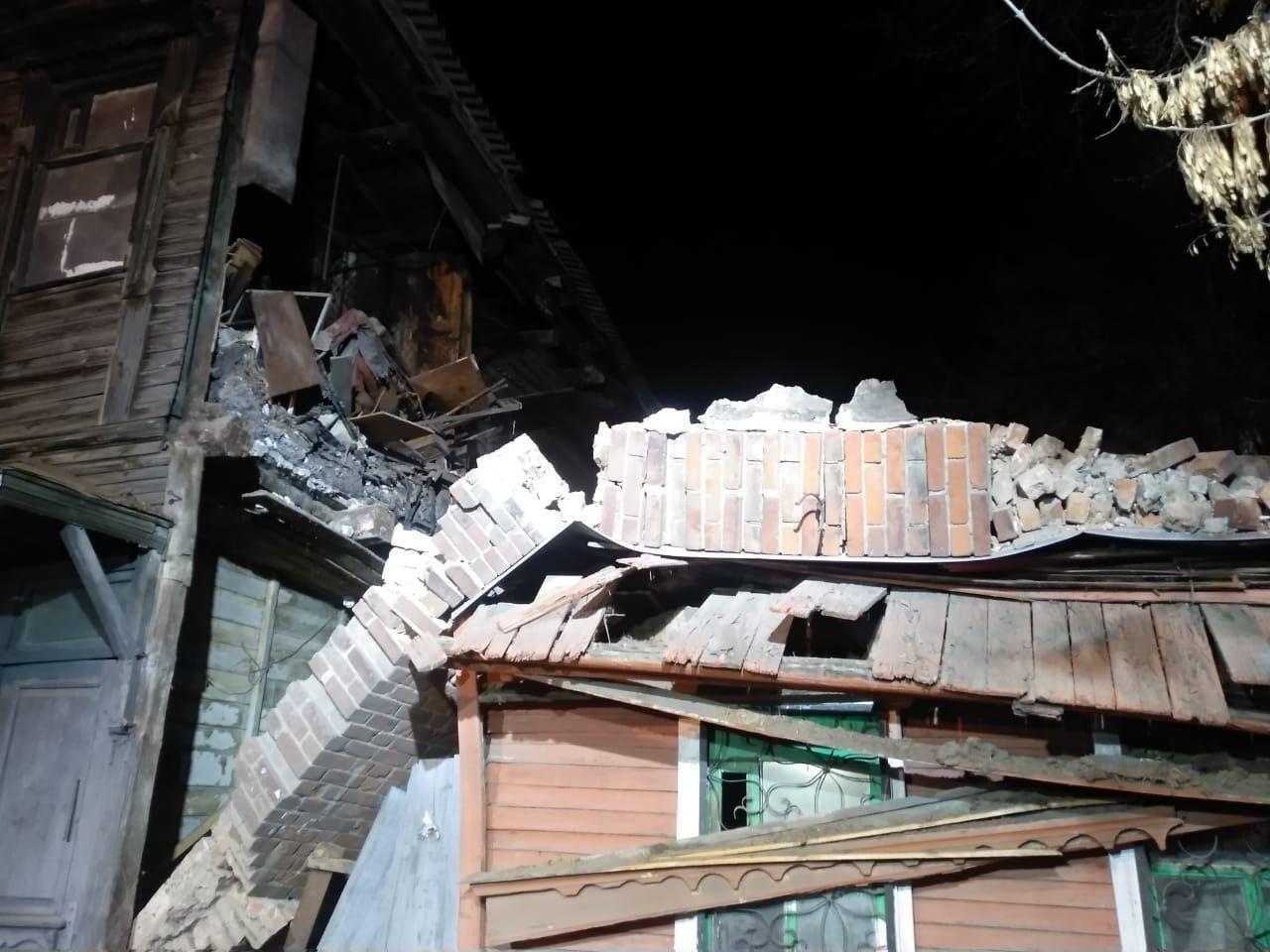 Фото обрушенного дома в Самаре