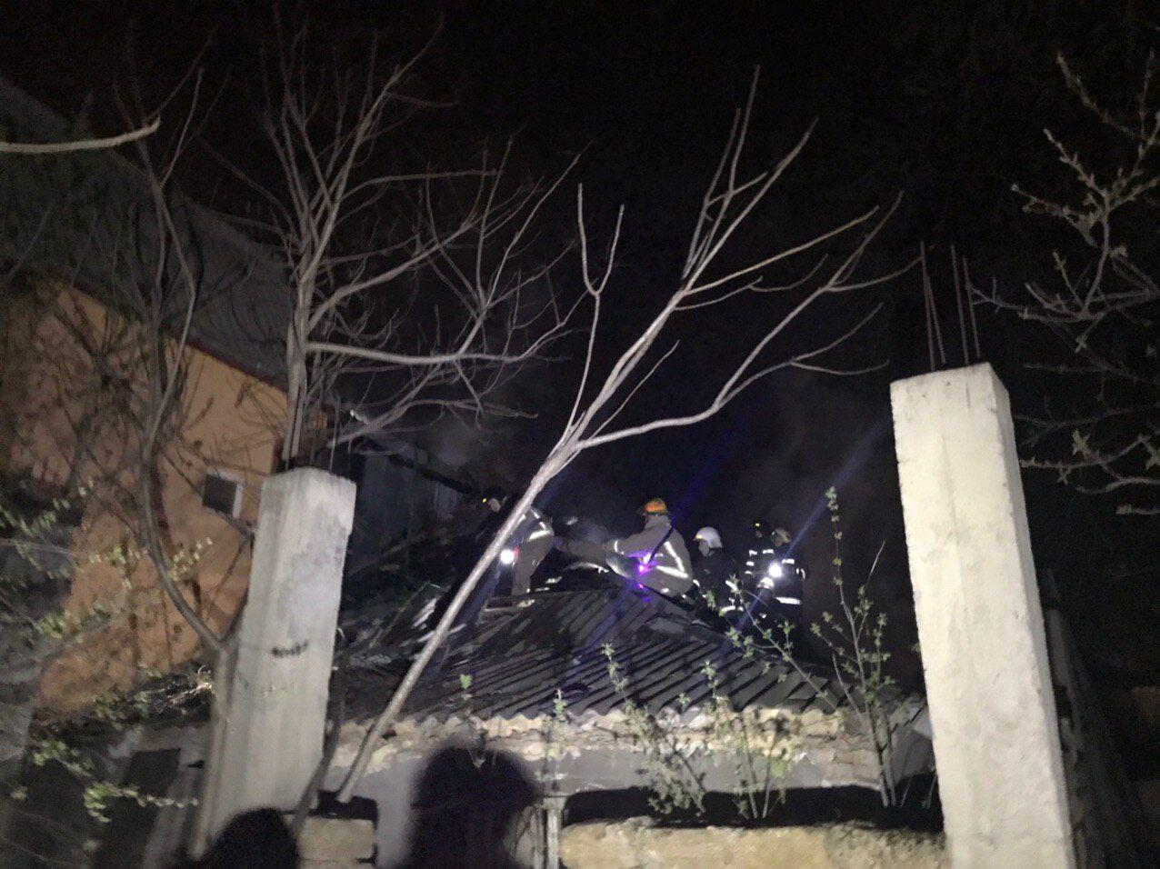 В Одессе сгорел частный дом