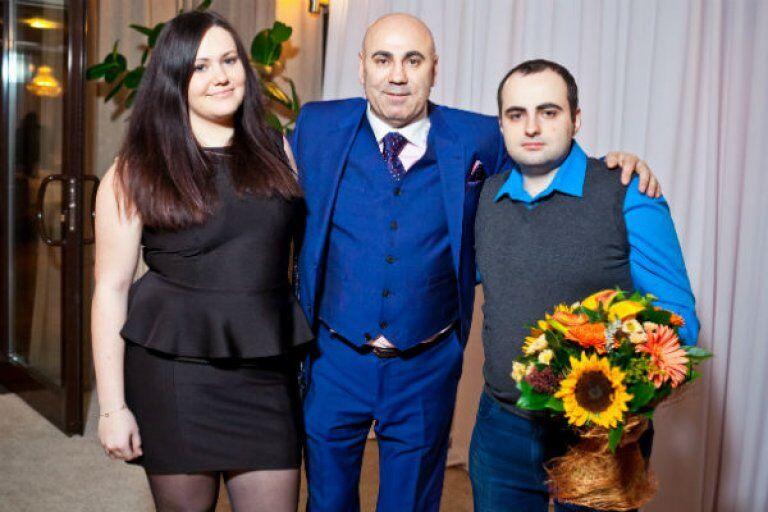 Иосиф Пригожин с детьми Данаей и Дмитрием