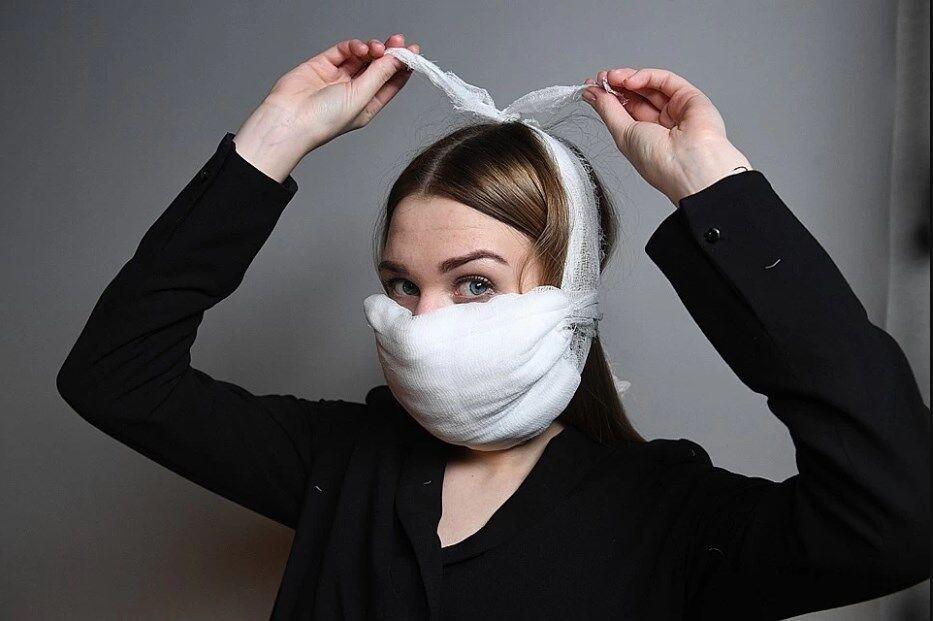 Самодельные марлевые маски не защищают от попадания вируса