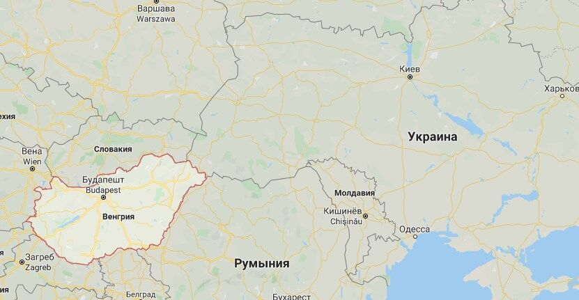 Угорщина межує з Україною