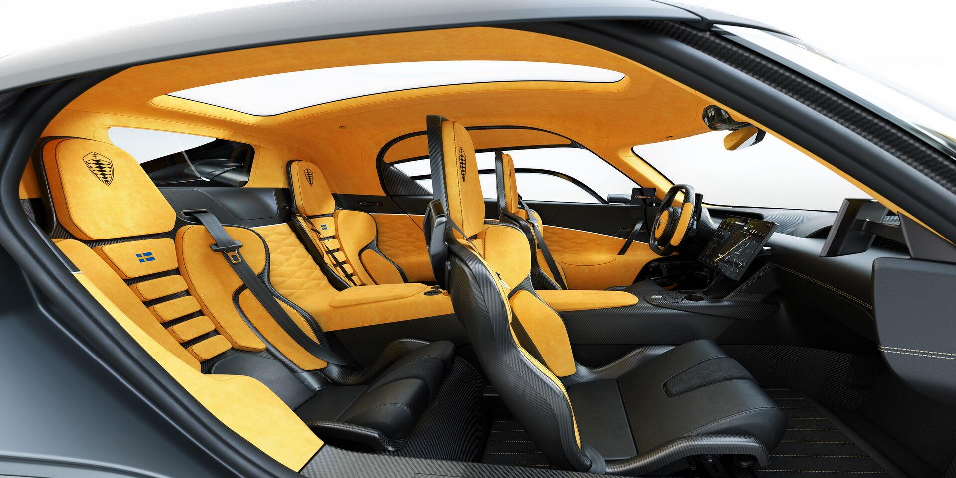 Салон Koenigsegg Gemera способен разметить четырех человек