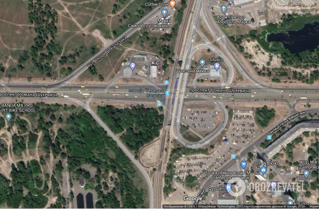Развязка на пересечении проспекта Шухевича и улицы Бальзака