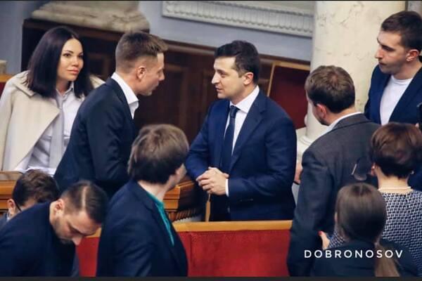 Алексей Гончаренко и Владимир Зеленский