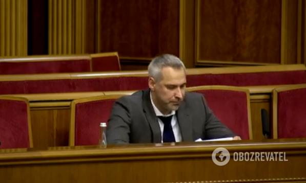 Руслан Рябошапка в Раде 5 марта
