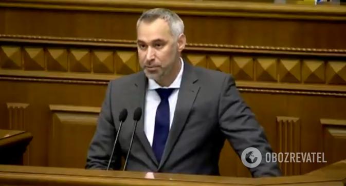 Руслан Рябошапка выступил в Раде