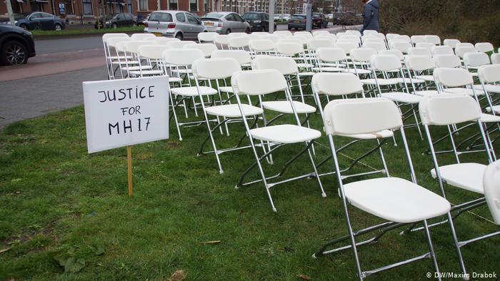 Акция под посольством РФ из-за катастрофы МН17