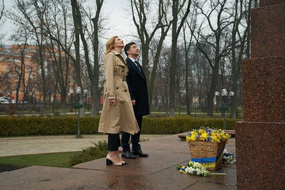 Олена і Володимир Зеленський