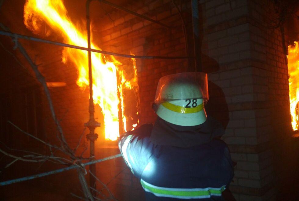 Пожар в Никополе