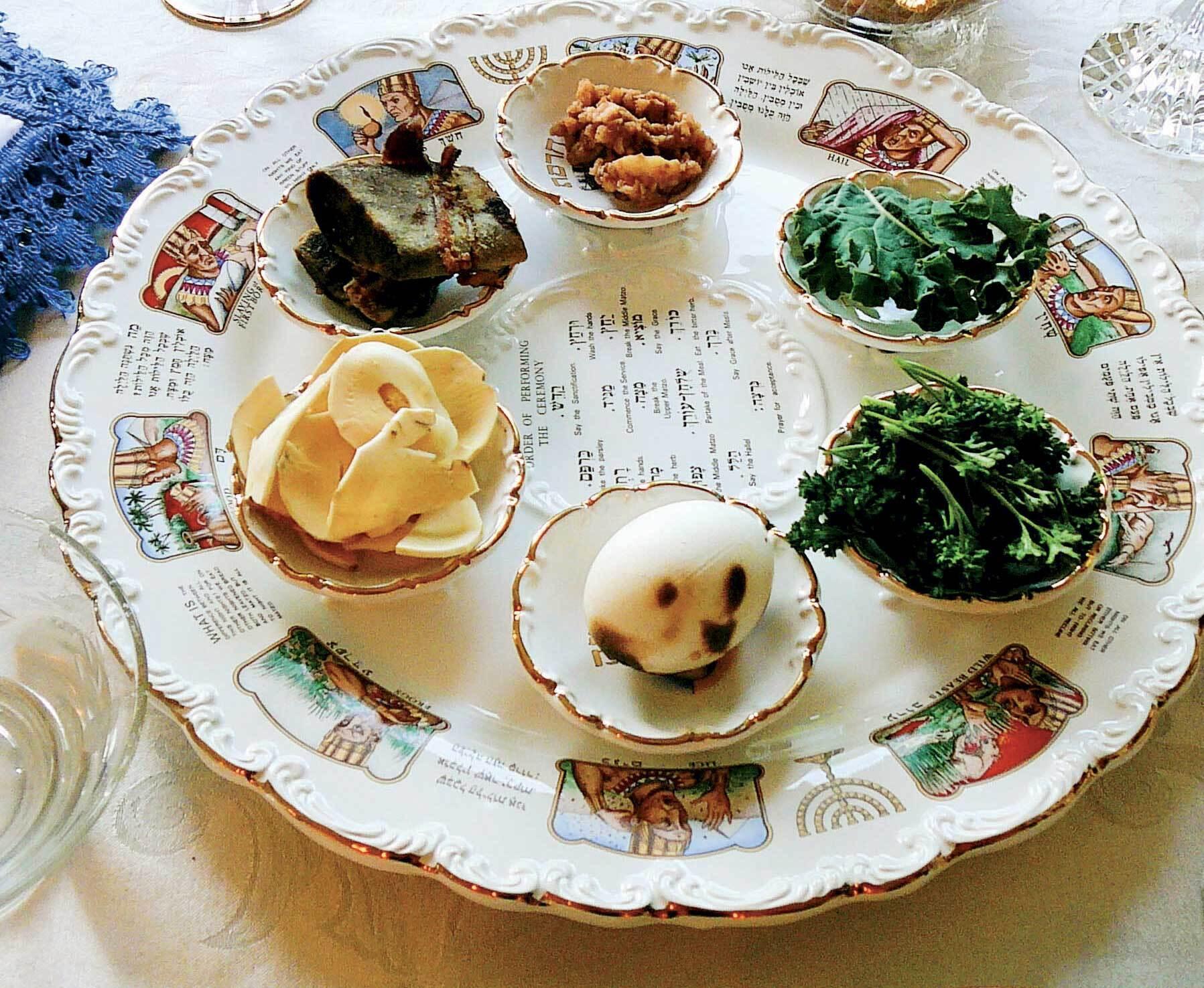 Таця, на яку прийнято класти страви для седера