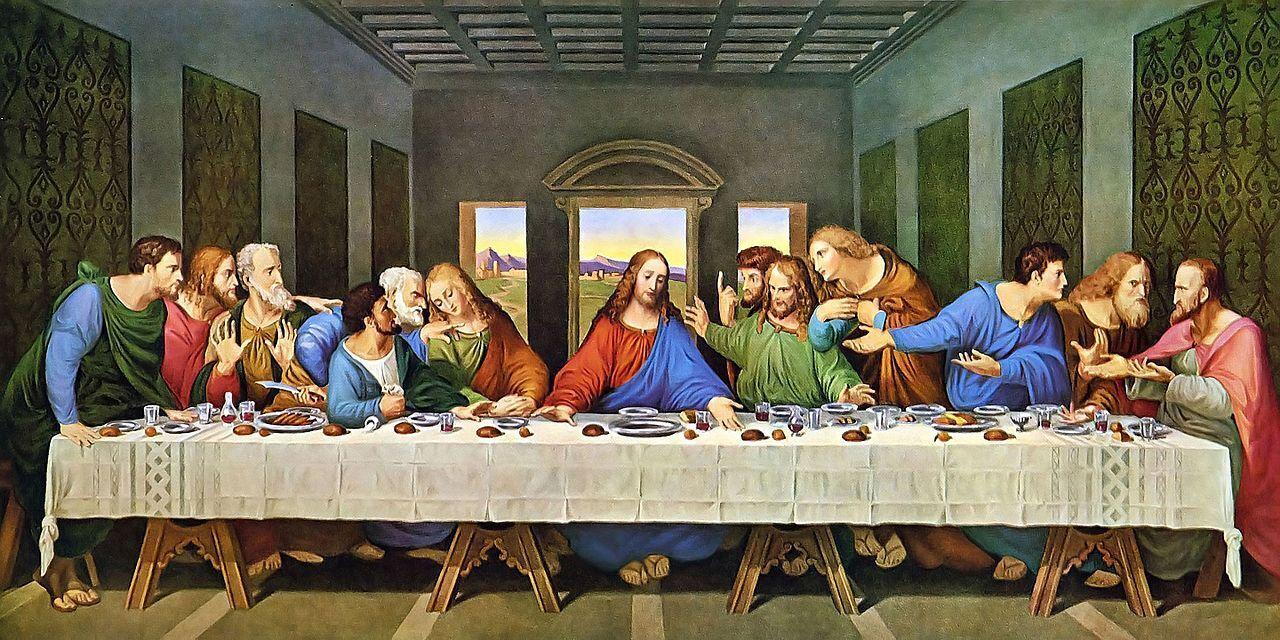 """""""Таємна вечеря"""". Фреска Леонардо да Вінчі, 1495-1497"""