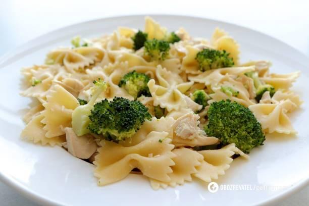 Легкая паста с овощами