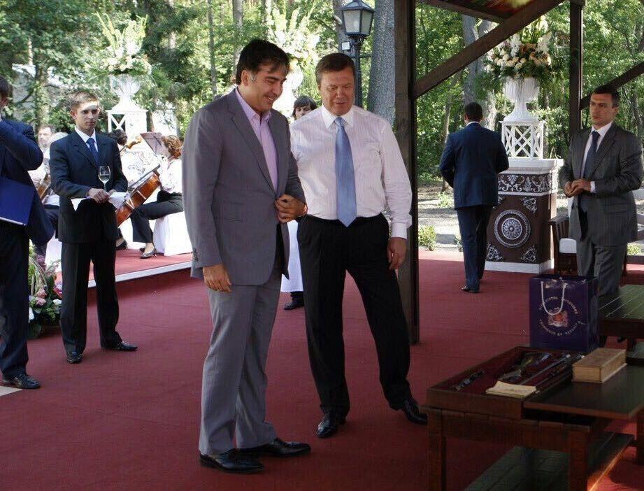 Янукович и Саакашвили