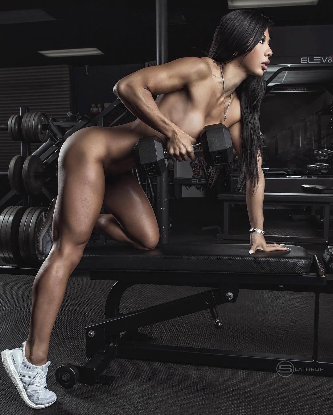 Female fitness models naked